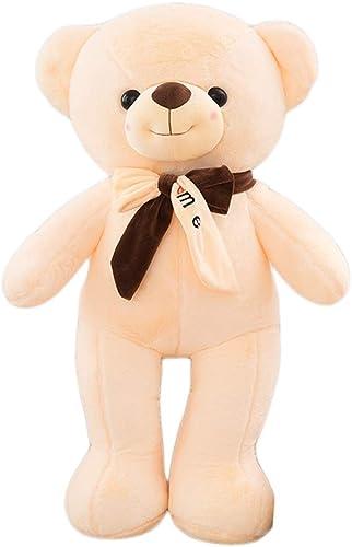 HYANF überGröße sü Teddyb Plüschtier Kissen, Weiße Kuscheltier Plüsch Puppe Kissen, Kind Erwachsene Geburtstag Weißachten
