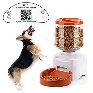 Tera Wifi Distributeur automatique programmable de nourriture 5,5L contrôlé par APP avec enregistrement vocal pour chien, chat