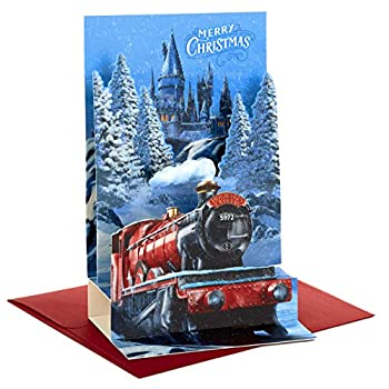 Hallmark Harry Potter Boxed Christmas Cards Hogwarts Express Paper Craft  8 Displayable Pop Up Cards and Envelopes   5XPX9465