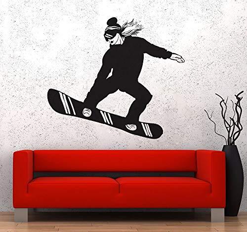 Tianpengyuanshuai extreme sport muursticker slaapkamer sticker snowboard meisjes vrouw sticker vinyl kunst sport