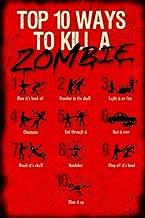 Buyartforless Top 10 Ways to Kill a Zombie 12x18 Art Print Poster Humor Walking Dead Zombies