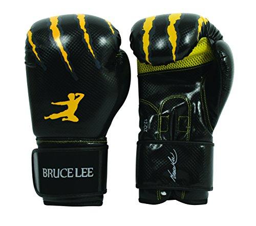 Bruce Lee 14BLSBO006 Guantoni Boxe, Unisex – Adulto, Nero, 12 Oz