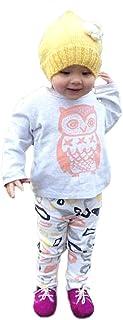 (ウイ カプア) u'i Kapua アニマル プリント Tシャツ & 総柄 ロング パンツ セットアップ ベビー服 女の子 男の子 長袖 上下 ( ホワイト )