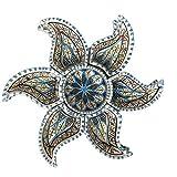 CASAMANIA GALANO Ischia Antipastiera a Stella in Ceramica Dipinta a Mano Azzurra 6 Scomparti 31 x 30 cm