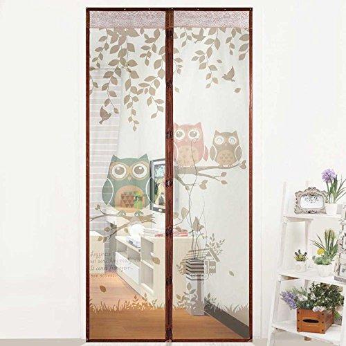 Cute dibujos animados búho patrón imán hogar dormitorio mosquitera cortina magnética anti-mosquito cortina de puerta para evitar mosquitera A1 W80xH210