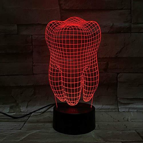 Dientes De Órgano Lámpara 3D Regalo Para Niños Luz Nocturna Con Pilas Para La Habitación Lámpara Decorativa De Luz Nocturna Led Efecto De Luz Visual