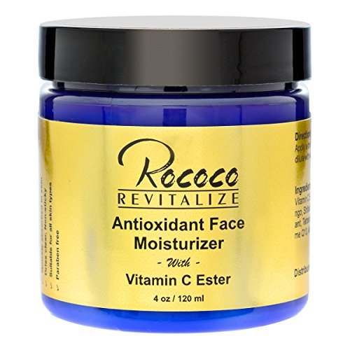 Antioxidant Face Moisturizer with Ester C Vitamin C for Face Cream Face Lotion for Men and Women - 120ml 4oz