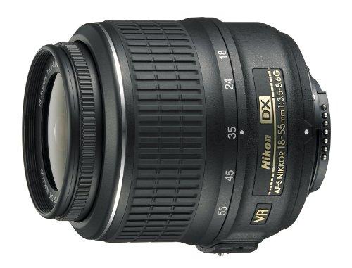 Nikon Obiettivo Nikkor AF-S 18-55 mm f/3.5-5.6G DX VR, Nero [Versione EU]