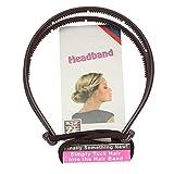 JUSTFOX - banda de pelo para hacer peinados, color marrón o negro.