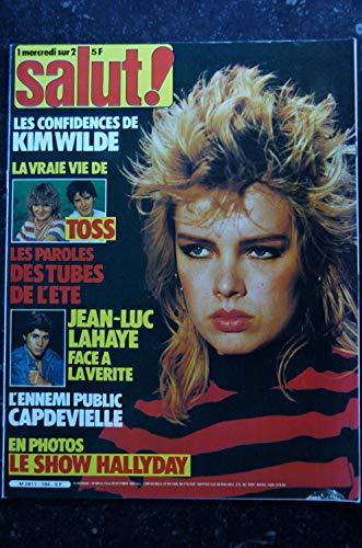 SALUT ! 184 13 au 26 oct. 1982 Kim Wilde Cover + 3 p. - Toss - Lahaye - Hallyday 5 p.