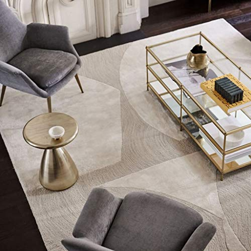 QFW Rectangle Loom Durable Printed Carpet Line Abstract Art Minimalist Style Rugs Geometric Pattern Gray Carpet Large Area Carpet Living Room Bedroom Non Shedding(Size:240340cm)
