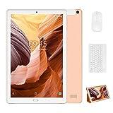 4G Tablet 10 Pulgadas YESTEL X2, 3GB+32GB, Android 8.1, Tableta con Mouse y Teclado, 4 Core, 8000mAh, 1280X800 HD IPS, Soporte WiFi/Dobles SIM, FM, Dorado