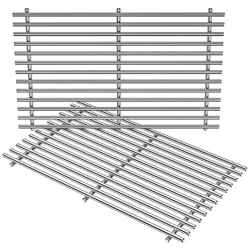 Stanbroil Stainless Steel Cooking Grates for Weber Summit 400 Series Summit E S 450 440 460 470 Gas Grills With Smoker Box, Replacement Parts for Weber 67550 - Set of 2