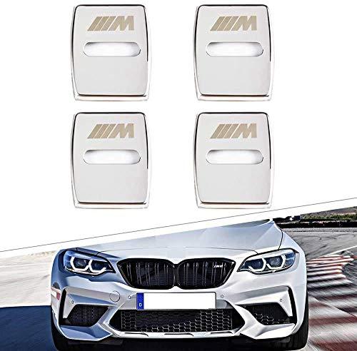 IPOLK Autotürschlösser, Schutzhülle, 4 Stück, für BMW 3 4 5 7 Serie 3 5 Serie GT X1 X3 X4 Edelstahl