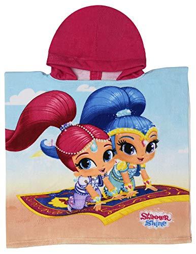 Character Linens Shimmer & Shine - Toalla de baño con capucha para niñas