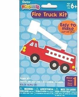 Darice Fire Truck Foamies Craft Kit (Easy to Make, Just Add Glue)
