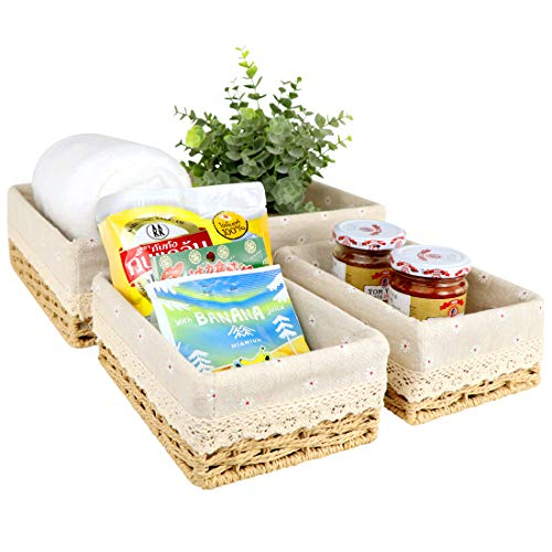 small wicker basket with liner - 7