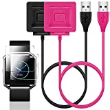 SENHAI Accessories Kit for Fitbit Blaze, 2 Pack Charger with Screen Protector Replacement for Fitbit Blaze Smart Fitness Watch