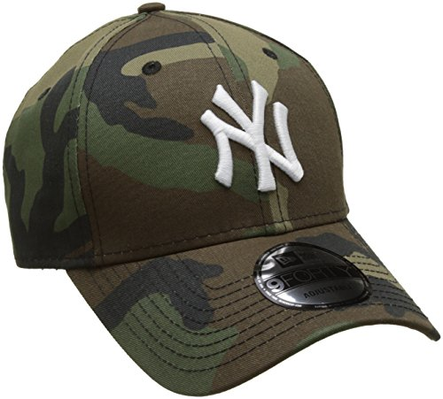 New Era Herren MLB League Essential Baseball Cap, Green (Camouflage), Einheitsgröße