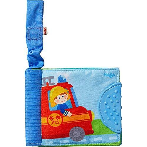 Haba Livre de poussette « véhicules » livre bébé, bleu/multicolore