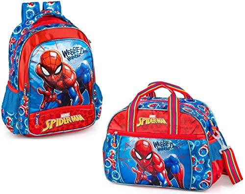 Marvel Spiderman Rucksack und Sporttasche Jungen Kinderrucksack Trainingstasche Tagesrucksack Tasche Spider-Man