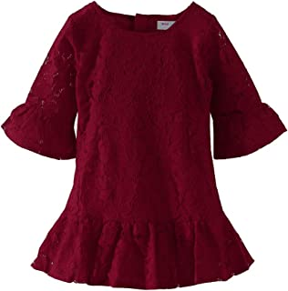 Mud Kingdom Girls Lace Dress Eyelet Flare Sleeve