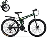 TOUNTLETS 26 Inch Full Suspension Mountain Bike Road Bike City Commuter Bicycle with 21 Speeds Dual...
