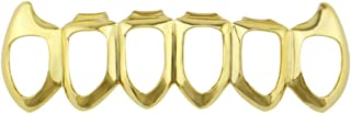 Best gift for Hip Hop -lotus.flower New Custom Fit Gold, Silver, Rose Gold,Black Grillz - Excellent Cut for All Types Of Teeth - Top/Bottom Grill or Set - Hip Hop Bling Grillz (Bottom, Gold)