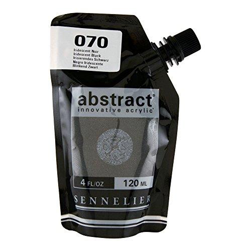 Sennelier – Peinture acrylique abstract - Iridescent Noir n°070 - 120 ml