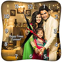Presto Customized, Personalized Gift Clock- Family Couple Mother Wife Friendship Grandparents Home Valentine Day Born Marriage Birthday Mom Dad (10 x 10 inches)