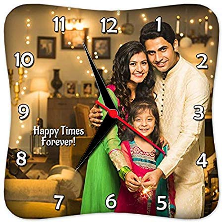 Presto Customized, Personalized Gift Clock- Family Couple Mother Wife Friendship Grandparents New Home Valentine Day New Born Marriage Birthday Mom Dad (10 x 10 inches)