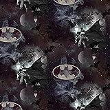 Loopomio Jersey Stoffe Batman schwarz 0,50m x VB