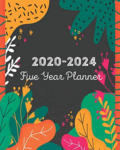 2020-2024 Five Year Planner: Colorful Tropical Abtract, Monthly Schedule Organizer Agenda, 60 Month For The Next 5 Year with Holidays and Inspirational Quotes