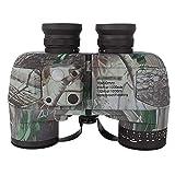 Los prismáticos de visión nocturna de HD for adultos compacto 7X50 prismáticos marinas impermeables militares con el compás telémetro BAK4 Prisma lente de Navegación Observación de aves Navegación y l