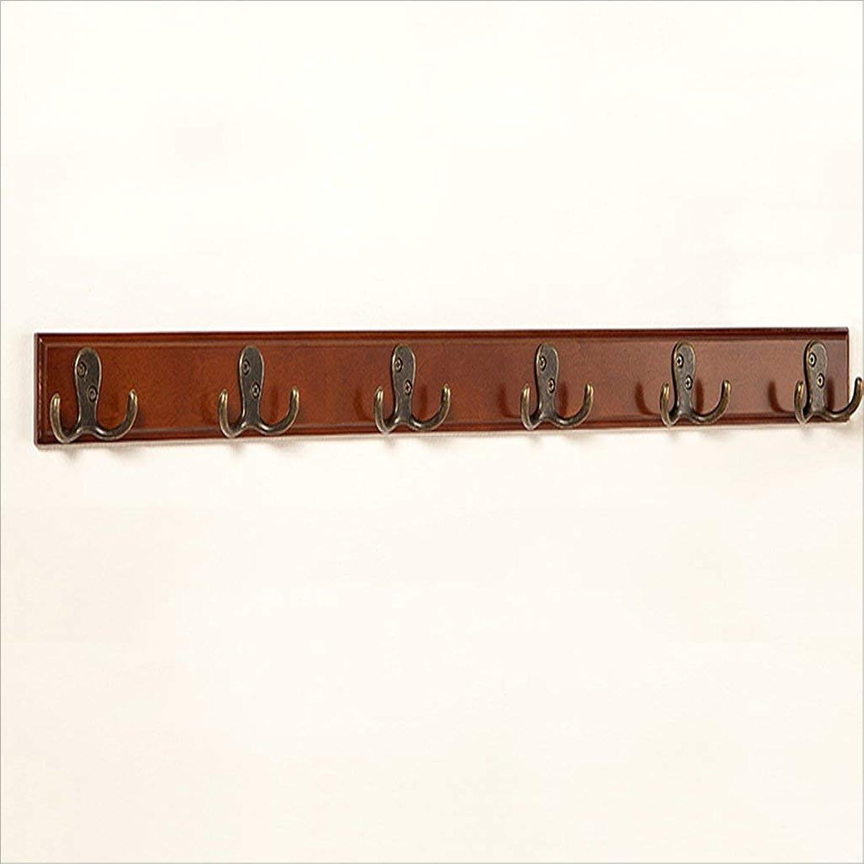 GJD Creative Coat hookmerican Wood Clam Hook Hook Five Rows of Hooks (color   Brown, Size   Six Hooks)