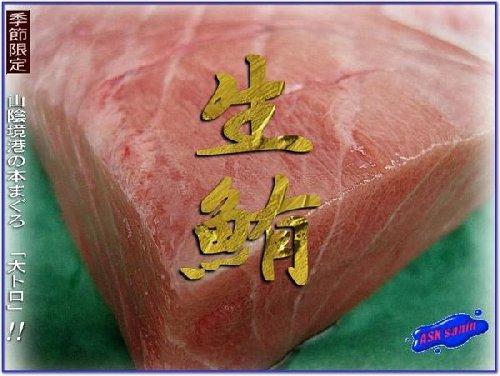 とれたて黒マグロ「大トロ他500g位」 日本海最大の漁港、境港直送!!