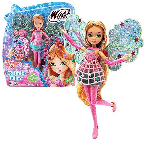 Winx Club Flora | Cosmix Fairy Puppe beweglichen holografischen Flügeln