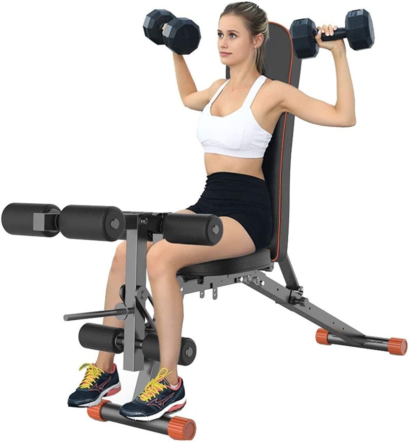 Adjustable Benches Foldable Weight Bench Dumbbell Bench Bench Chair Load 300kg Home Auxiliary Fitness Chair Gym Equipment Benches (color   Black, Size   164.5  35.5  43cm)
