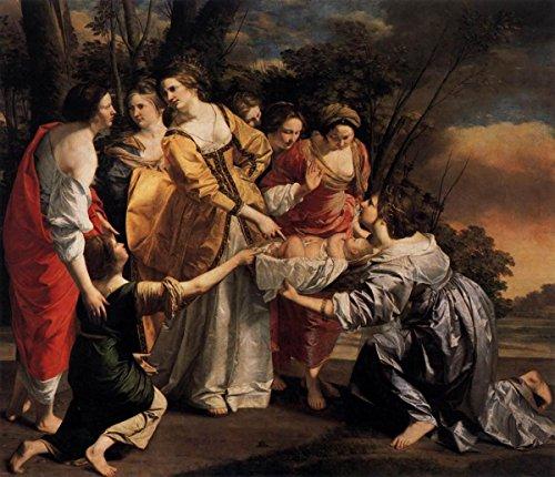 Laminated 17x15 Poster Orazio Gentileschi - Finding of Moses - WGA08582