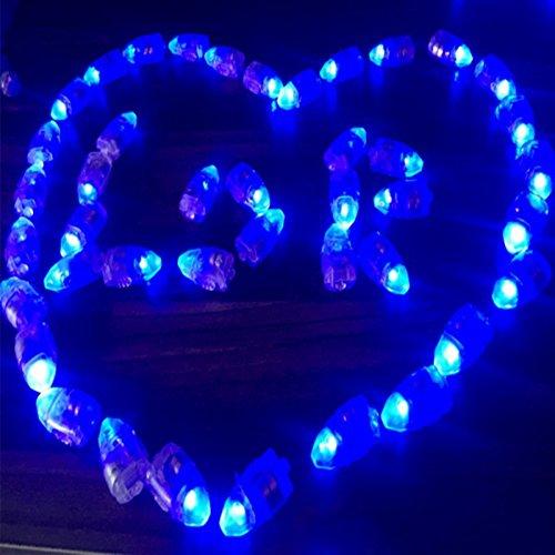 WFZ17 Mini-Laterne für Luftballon, wasserdicht, kugelförmig, für Hochzeit, Geburtstag, Party, 10 Stück, Plastik, blau, Einheitsgröße