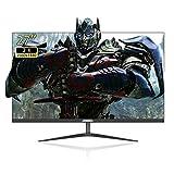 Johnwill 27-Zoll-Monitor, 2560 x 1440 2K-Auflösung mit VGA-HDMI, 60-Hz-Aktualisierungsrate, 5-ms-Reaktionszeit, Gaming-Monitor mit schmaler Frontblende, Bildschirm für PS3/PS4/X-Box/PC, Schwarz