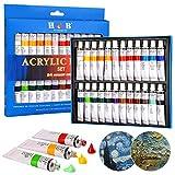 Zorara pintura acrilica para Pintar 24 Tubos de 12 ml, pintu