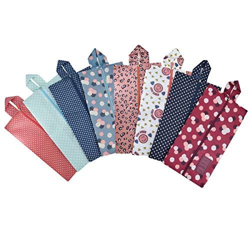 Portátil bolsas de zapatos de viaje multifuncional oxford zapatos almacenamiento y organización con cierre de cremallera (8 Pack)