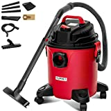 KUPPET 3-in-1 Wet/Dry Vacuum Cleaner, Shop Vacuum with Attachments, 5 Gallon, 5.5 Peak HP, 16Kpa Powerful Suction, 20L Capacity (RED)…