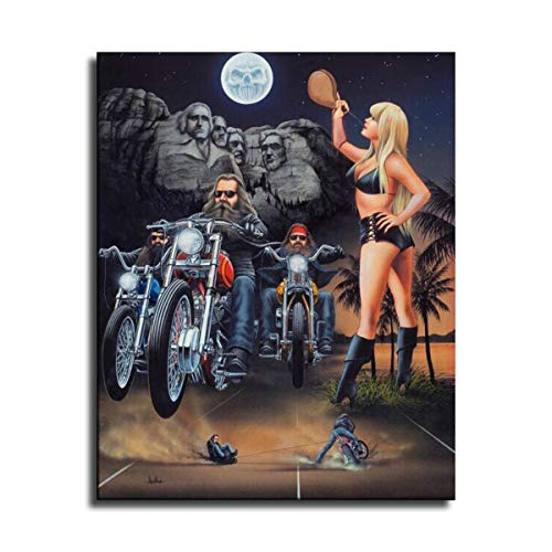 Ghost Rider David Mann Wall Art Modern Artwork Painting Print on Canvas Picture for Living Room Home Decoration Poster -350 (No Framed,20x30 inch)