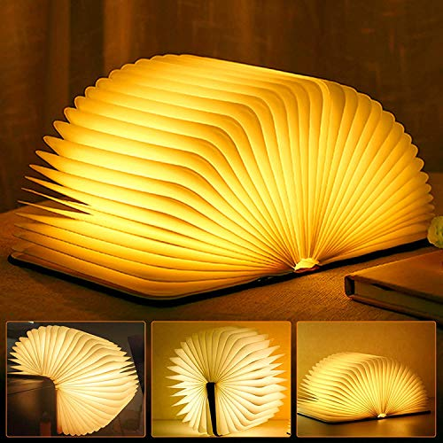 Libro Lámpara LED Luces Plegables de Madera