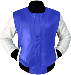 5e0b872ae113e luvsecretlingerie Original American Varsity Real White Leather Letterman  College Baseball Women Leather Jackets