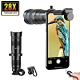 Apexel Phone Camera Lens 28X Monocular Telephoto Lens with Remote Shutter for Bird Watching Works with iPhone 11/ Pro/Pro Max Samsung Pixel Android Any Smartphones