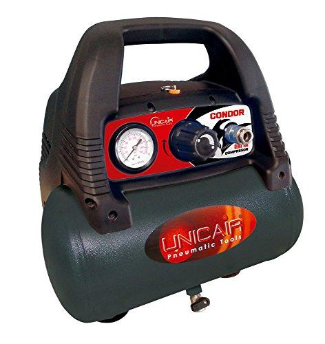 Unicair elektrische compressor zonder olie 6 liter, 1,5 pk