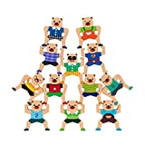 TOYANDONA 1 Juego de Juegos Educativos Tempranos Jengas Juguetes Apilables Juegos de Bloques de Equilibrio Acrobático Juguete Juguete Cognitivo para Niños